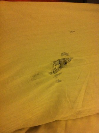 La Quinta Inn & Suites Albuquerque Midtown: Ripped sheets during first stay in Sept-2012