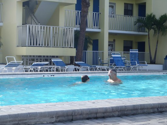 Alden Suites: The heated pool!