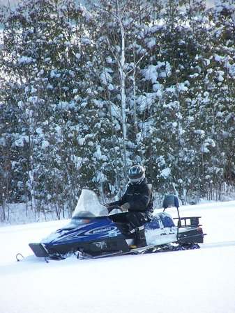 Inn at Cobble Beach Resort and Spa: Snowmobiling at Cobble Beach