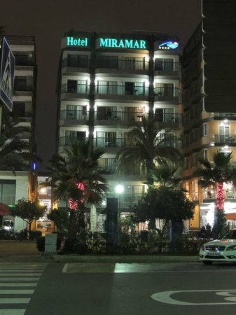 Miramar: Outside view from the beach in the evening