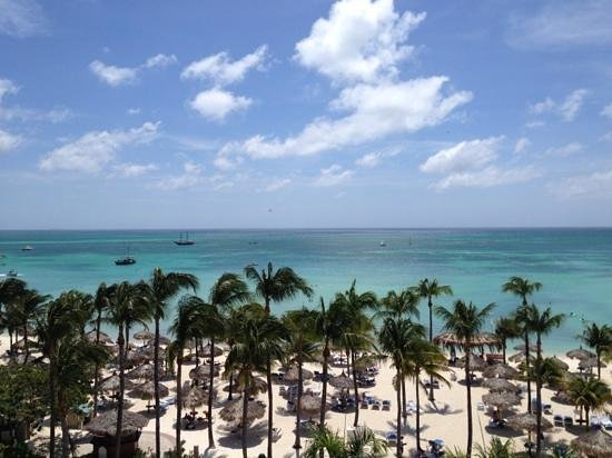 Marriott Aruba Resort & Stellaris Casino: view from room on the eighth floor
