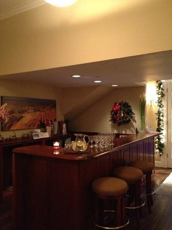 The Gables Inn Sausalito: the check in counter and bar after 5 pm