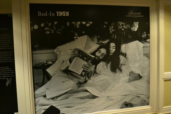 Fairmont The Queen Elizabeth: John Lennon and Yoko Ono bed-in in the hotel in 1969