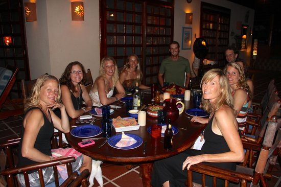 Montezuma, Costa Rica: dinner at the surf camp