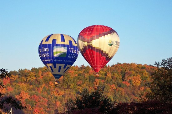 Essex, VT: Fall foliage colors just coming around for this October flight