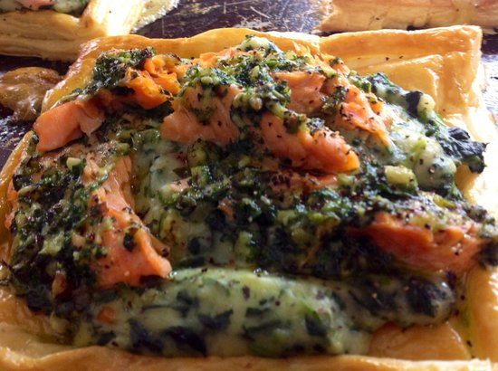 Kippilaw House: Fresh King Salmon vol au vent Dinner menus change daily to accommodate the fresh seasonal foods.