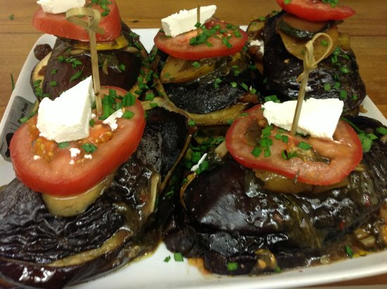 Kippilaw House: Grilled eggplant dinner option. a la carte 4 course three options per course available on reques