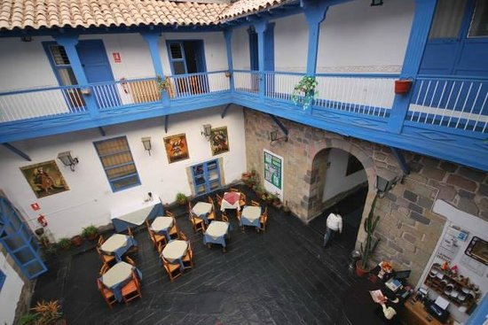 Hostal Inti Wasi - Plaza de Armas: View from upstair inside