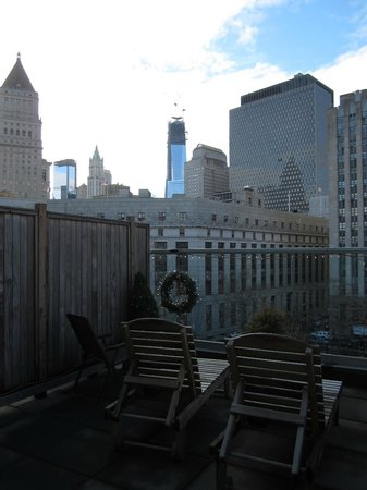 Hotel Mulberry: View of the Lower West End and the Liberty Tower