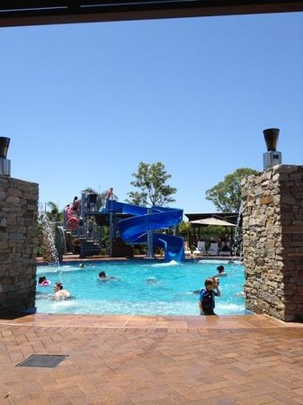 Gold Coast Holiday Park &amp; Motel: pool side at The Gold Coast Holiday Park - lovely!!