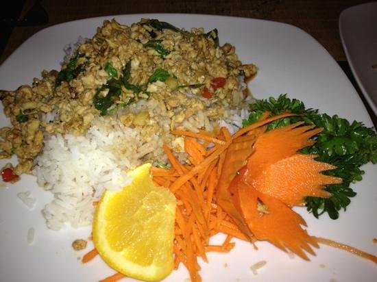 Chicken madness spicy picture of siam square great for At siam thai cuisine orlando