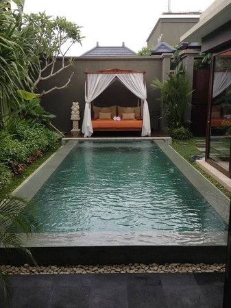 Seminyak Icon: Our pool and sunbed