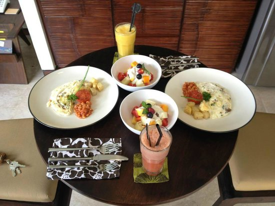 Seminyak Icon: Our daily breakfast brought into our villa