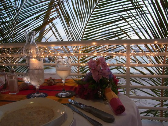 Carib Sands Beach Resort: Private Sunset dinner that KAthy helped us setup