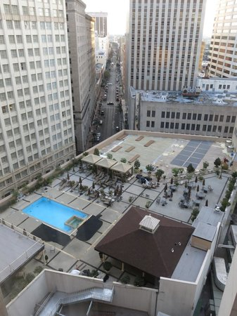The Roosevelt New Orleans, A Waldorf Astoria Hotel: View of the pool from suite 11222