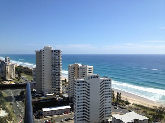 QT Gold Coast: View from our balcony on the 21st floor