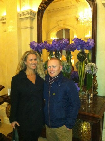 The Shelbourne Dublin, A Renaissance Hotel: beautiful lobby with my cuz