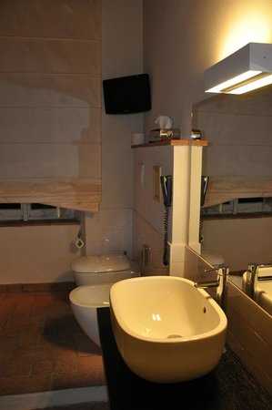 Albergo San Martino: Bagno con TV