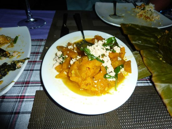 Delux Villa: Pumpkin and chicken - delicious