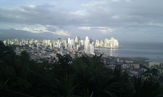 La Estancia: View of Panama City from the top of the hill