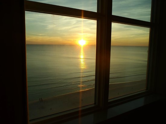 Aqua: View from inside our Condo (Sunset)