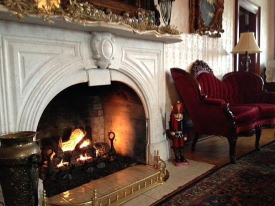 The Addy Sea: fireplace in the main room