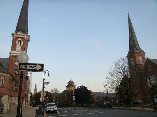 Holiday Inn Berkshires: Just a couple of many churches in N. Adams