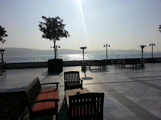 Four Seasons Istanbul at the Bosphorus: View from the Terrace on a sunny day