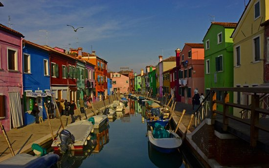 Isola di Burano: le case colorate di Burano