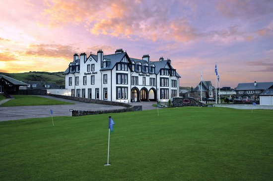 The Ugadale Hotel & Cottages: The Ugadale Hotel from MGC practice green