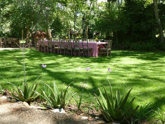 Rivertrees Country Inn: Outside dining in the garden