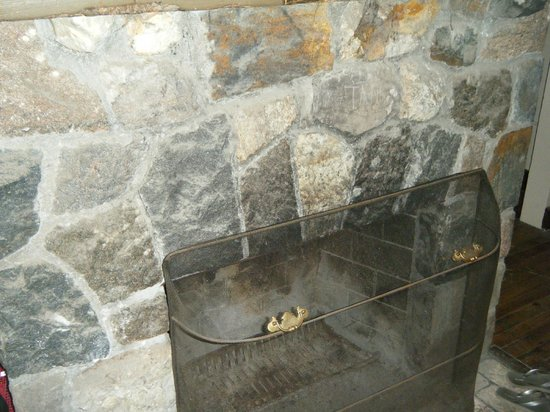 Fayetteville, NY: Fireplace in cabin