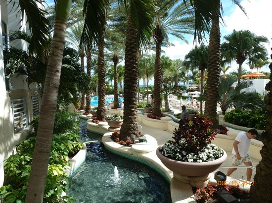 Loews Miami Beach Hotel: Walkway to Pool