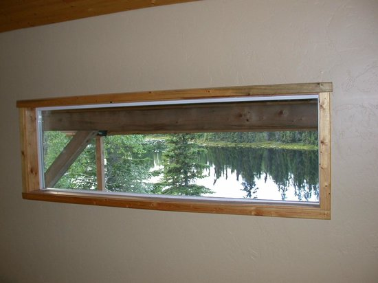 Escape for Two Bed & Breakfast: View out of the Moose Cabin