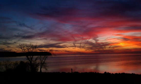 Sandy Cove Ministries: Sunset at Sandy Cove - view from the Lodge