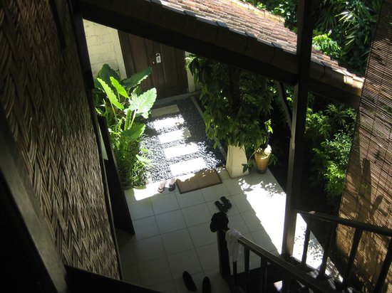 Villa Coco: looking down the stairs from the bedroom