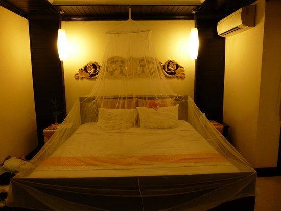 The Kool Hotel: The room - we erected the net which we packed with us