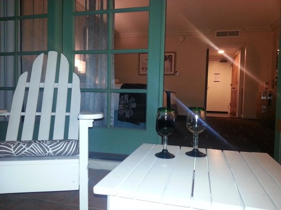 FireSky Resort & Spa - a Kimpton Hotel: The Empty Glass for my hubby that couldn't be there :(