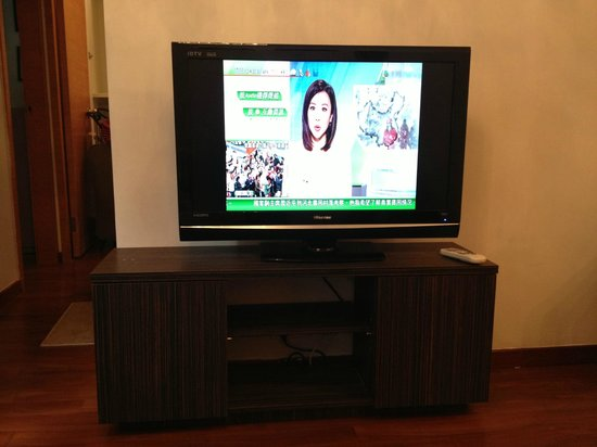 Lodgewood by L'hotel Wanchai: Tv.. perhaps the only thing that hasn't had problems.