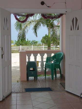 Sea View Suites: view out from the front door