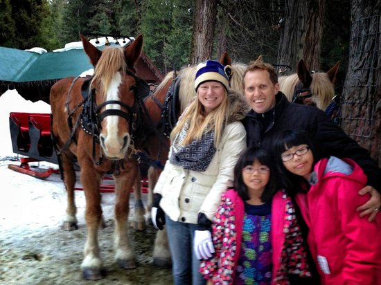 Tenaya Lodge at Yosemite: Sleigh Ride!
