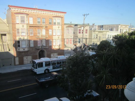 The Inn San Francisco: View of South Van Ness Ave from room 21