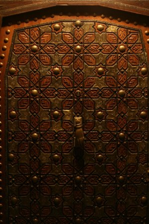 Riad Lila: The front door.