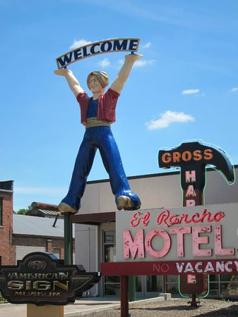 American Sign Museum: The museum welcomes you with classic roadside signs
