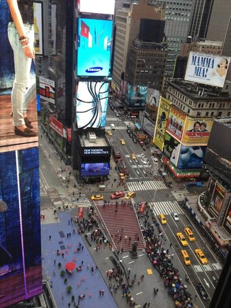 New York Marriott Marquis: My view from the hotel during my November 2012 stay