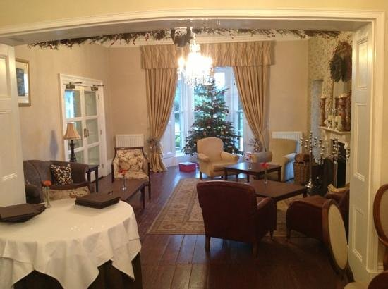Gulworthy, UK: The lounge at the Horn at Christmas and New Year