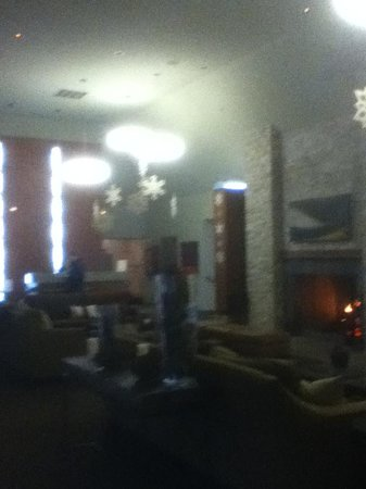 The Resort at The Mountain: Frosty, fluorescent lobby/public area. Underused with good reason.