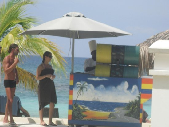 Secrets Wild Orchid Montego Bay: jerk dude on the beach every day x