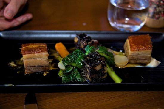 Richmond, Australia: Pork Belly with some really great sides