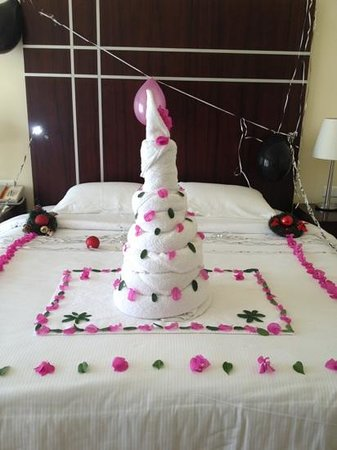 Hilton Sharks Bay Resort:                   towel birthday cake
